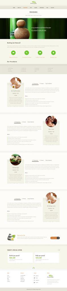 Wellness Spa Resort Tri Fold Brochure Template Spa marketing - sample spa menu template