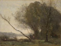 Camille Corot - The Bent Tree, 1855-1860, oil on canvas