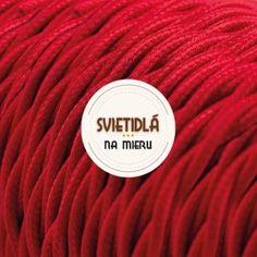 Kábel dvojžilový skrútený v podobe textilnej šnúry v červenej farbe Luster, Retro, Cable, Retro Illustration