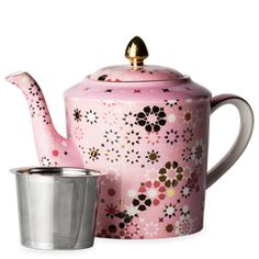 Dancing Magnolia Blush Teapot Large