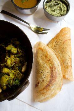 Masala Dosa Recipe with Step by Step photo's. vegrecipesofindia.com