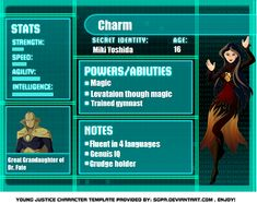 young justice second generation fanfiction | Charm Young Justice OC by Oddrox2007