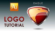 Adobe Illustrator Tutorial - How to create a Professional Eagle Logo Web Design, Graphic Design Tutorials, Design Trends, Adobe Illustrator Tutorials, Photoshop Illustrator, Logo Tutorial, Photoshop Tutorial, Logo Design Inspiration, Illustrations
