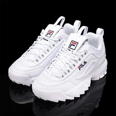Women's Athletic Shoes - - FILA Disruptor II 2 Women's Fashion Athletic Shoes Sneakers Converse Unisex Chuck Taylor Classic All Star Lo OX Hi Tops Canvas Trainers New. Sneakers Mode, Wedge Sneakers, Casual Sneakers, Sneakers Fashion, Casual Shoes, Fashion Shoes, Shoes Sneakers, Women's Fashion, Casual Trainers