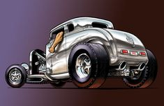 Mustan Hot Rod Cartoon Art | CARtoons and Hot Rods