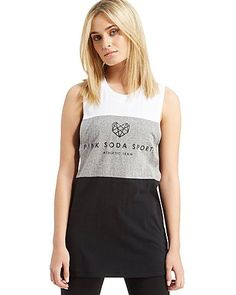 From the gym to the streets, Pink Soda Sport's dedication to healthy living and positivity amongst women is their prime goal. This women's Three Panel Vest is a stylish off-duty must-have, perfect for throwing on after your fitspo fix. Made with cut and sew panelling for monochrome style, jacquard branded elastic enhances the comfort after you've put in a long session. We've seen everyone from DJ Vogue Williams and blogger babe Lydia Elise Millen making a statement in their Pink Soda…