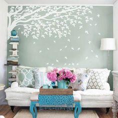 Use um lindo adesivo para climatizar ainda mais o #ambiente aconchegante e realçar a cor da parede!