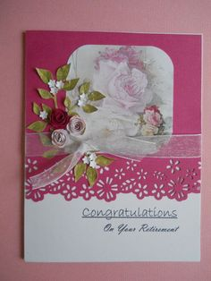 retirement card ideas | Retirement Card Congratulations Quilled Roses by CooCoo4UCreations, $4 ...