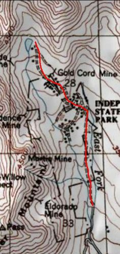 Portage Valley topo map and the trail of blue ice  hiking