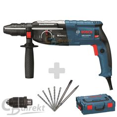 BOSCH Drill Hammer GBH 2-28 DFV + 5 SDS Drill  + 2 Chisels + L-Boxx + Chuck benl.picclick.com
