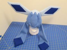 Too cute!!!!!! Glaceon Fleece Cosplay Hat by CaffeinePowered on Etsy, $40.00