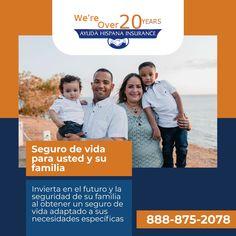 Tenemos el seguro que necesitas para ti y tu familia. Ads, Life Insurance
