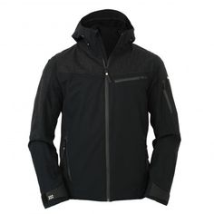 Wool Anorak Hooded Jacket, Sportswear, Athletic, Wool, Jackets, Clothes, Collection, Black, Fashion
