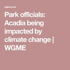 Park officials: Acadia being impacted by climate change   WGME