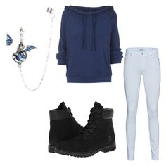 """Untitled #85"" by destinyaldridge on Polyvore featuring 7 For All Mankind, Free People and Timberland"