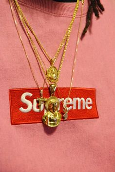 Supreme Box Logo x Gold Chains More