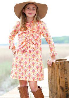 Sassy dresses for the older girls too !!  Lilly ruffle front dress $45  sz 2-10 #shrimpandgritskids