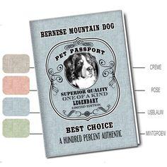 Bedrukt Honden Paspoort Etui - Berner Sennen - Woezedoes