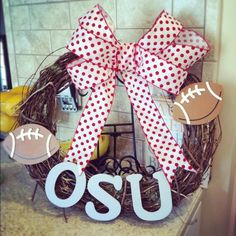 Ohio State football wreathe. let-s-get-crafty