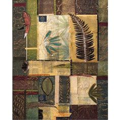 Windsor Vanguard Leaf Collage I by Unknown - VC111824x30