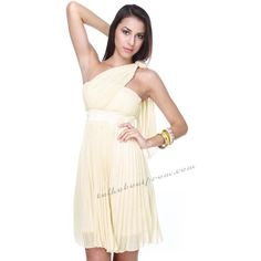 Light Yellow Grecian Style Prom Dress TPSD024 [TPSD024] - $118.00 :... via Polyvore