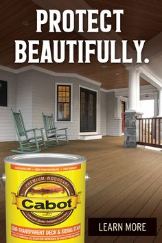 Looking for wood stain products? Cabot offers the finest selection of quality exotic wood care products that provide beautiful and long-lasting results. Exterior Wood Stain, House Paint Exterior, Cabot Stain, Painting Laminate Countertops, Deck Stain Colors, Semi Transparent Stain, Front Door Christmas Decorations, Whittling Wood, Winter Cabin