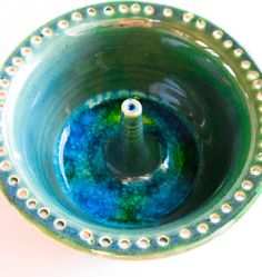 Green Ceramic Jewelry Dish Earring Holder Ring by DovecoteDesign, $28.00