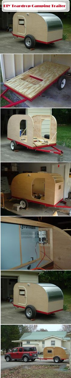 DIY Teardrop Camping Trailer - next woodworking project, @Yves Paul Scherer Metzler ??? :) Camping Car, Camping Survival, Camping Hacks, Camping Ideas, Outdoor Camping, Family Camping, Kombi Motorhome, Camper Trailers, Teds Woodworking