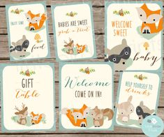 Fox clipart woodland baby shower - pin to your gallery. Explore what was found for the fox clipart woodland baby shower Cute Baby Shower Gifts, Baby Shower Items, Baby Girl Shower Themes, Baby Shower Signs, Baby Boy Shower, Baby Gifts, Comida Para Baby Shower, Party Banner, Bebe Shower