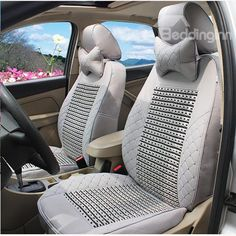 PU Ice Silk Material And Soild Pattern Car Seat Cover #car #seat #decor #cover