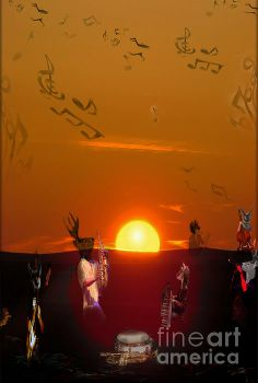 Title  Jazz Fest   Artist  Cathy Anderson   Medium  Digital Art - Digital Art