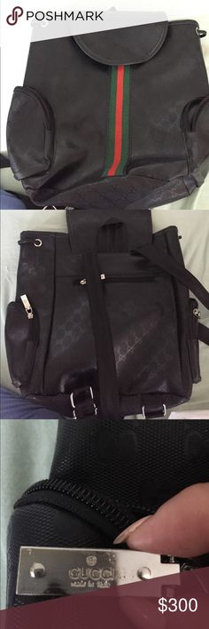 GUCCI BACKPACK Back pack with five pockets 2 inside one in the back and 2 on the sides. Gucci Bags Backpacks