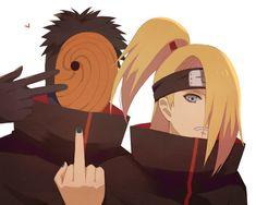 Obito and Deidara Naruto Kakashi, Naruto Shippuden Sasuke, Anime Naruto, Sasori And Deidara, Deidara Akatsuki, Naruto Cute, Boruto, Gaara, Sad Anime