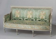 Canapé, Anonymous, Nederland. Haarlem reception room 1794, Abraham van der Hart, c. 1793 - c. 1795
