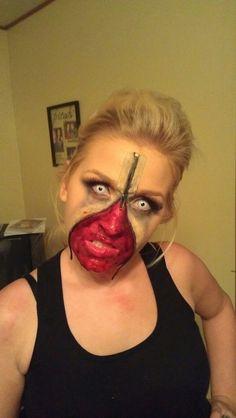 Zipper Face Halloween Makeup For Girls