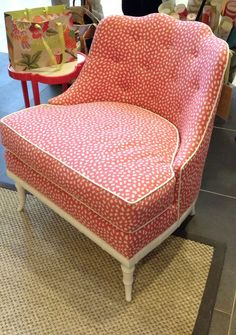 The New Feminine. Trend: Ruffles. The Brentwood Chair by Thibaut Fine Furniture, Market Square 260, 254. #HPMKT #hpmktSS