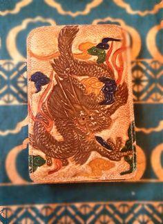 Retro Japanese Dragon Wallet by summerhills on Etsy, $7.85