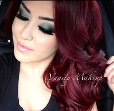 Burgundy hair color I want this color soooooooo bad