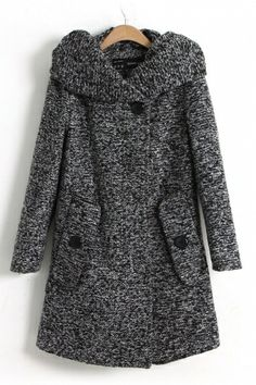 Curly Hat Collar Outerwear