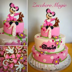 Baby Minnie cake and cookies
