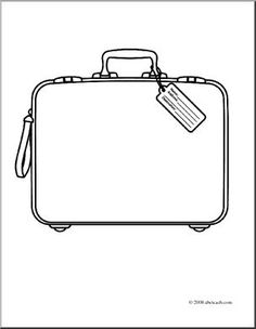 Travel FIAR  coloring pages of suitcase - Google Search