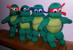 Teenage Mutant Ninja Turtles Knitting Pattern to Knit Action Heros