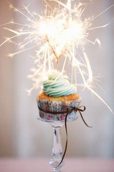birthday cupcake sparkler! Inspiration for a vegan version.