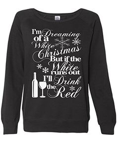 "Christmas White Wine Red Wine Merlot Wino Winosaur Winosaurus Rex Holiday Thanksgiving Women's Sweater Holiday Ugly Gift Black XX-Large. To ensure you are not receiving a poor counterfeit product, make sure it shows ""Ships from and sold by Wicked Buff Sportswear"" above. Exclusively from Wicked Buff Sportswear, Designed and printed in the USA by a military family. See our other listings for even funnier designs and get your new winter wardrobe started. Perfect for getting back into the gym…"