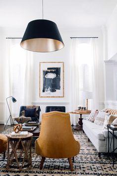 classic modern neutral rich living room