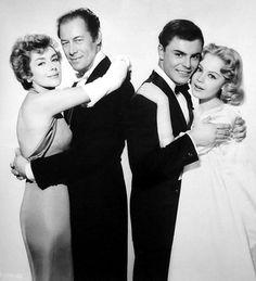 Kay Kendall, Rex Harrison, John Saxon, Sandra Dee - 'The Reluctant Debutante' - (1958)