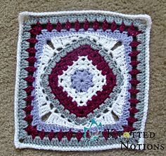Diamond in the Rye by Amber Schaaf. Crochet granny square.