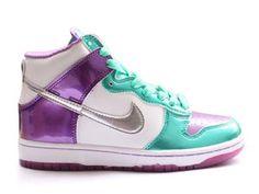 best value 175ab dd389 Buy Best Nike Dunk High Top GS Women White Metallic Silver Violet .