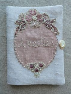 ❤︎ embroidered needlebook by gentlework