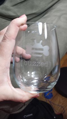 Etched Wine Glass by CraftyCacciatore on Etsy